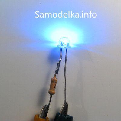 светодиод с резистором 12