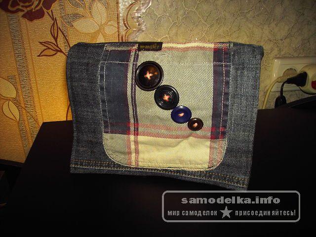 сумка декорированная большими пуговицами