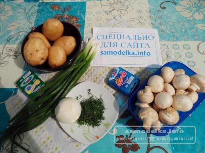 ингредиенты для приготовления грибного супа