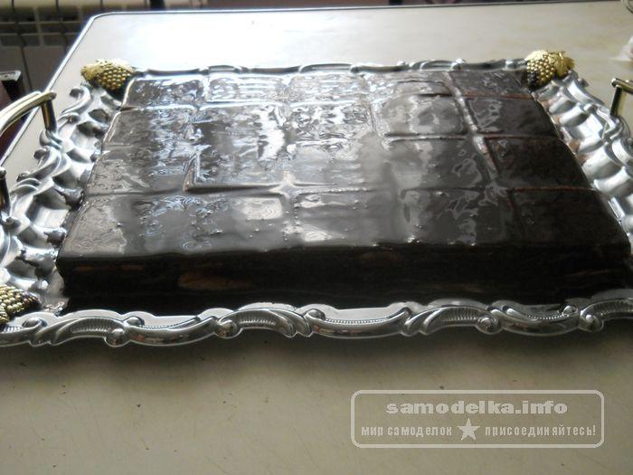 итоговая фаза приготовления творожного торта