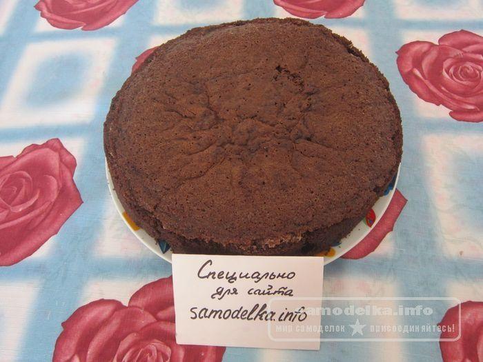 накрытый кружкой торт