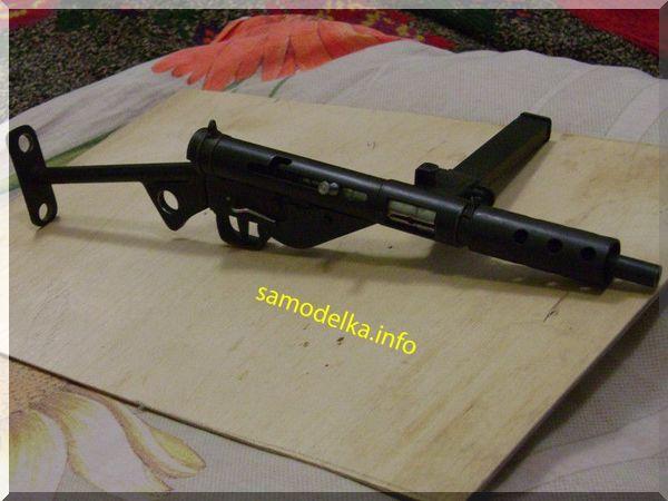 Самодельная микромодель пистолета-пулемета STEN MK-2