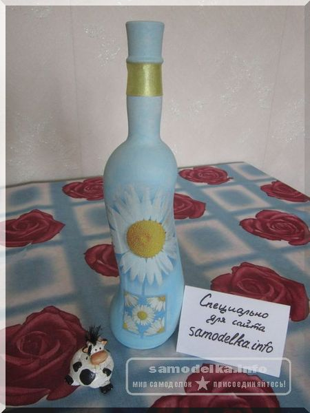 Декупаж бутылки своими руками