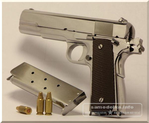 Самодельная миниатюрная модель-копия Кольт 1911А1