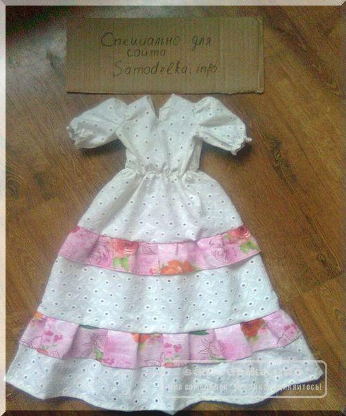 платье для куклы Тильды