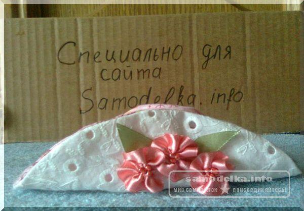 самодельная шляпка для куклы Тильды