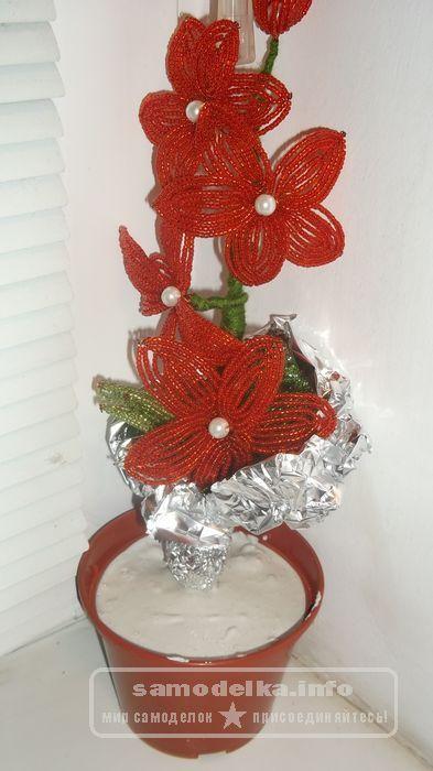 Заливаем гипс в цветочный горшок