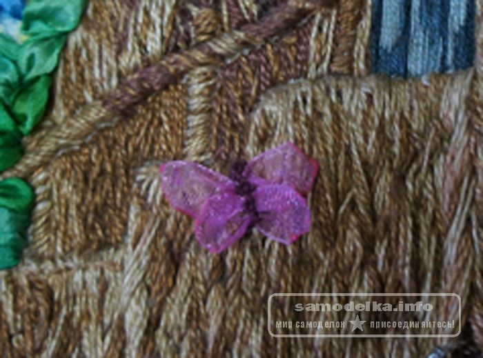 Бабочки из капроновых лент