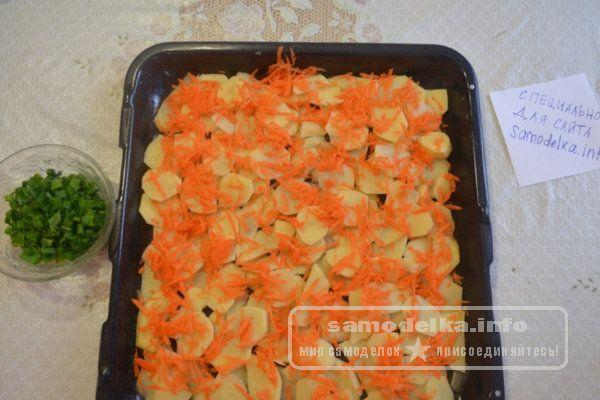 Слой картофеля и моркови