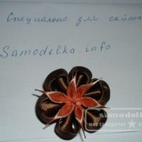 украшение канзаши для коротких волос
