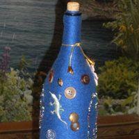 Идеи для создания поделок из пуговиц. Декорирование бутылки пуговицами