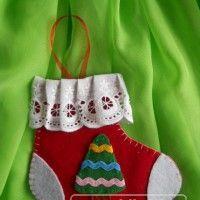 украшение - сапожок Деда Мороза