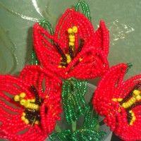 Тюльпаны из бисера своими руками