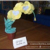 орхидея из фетра