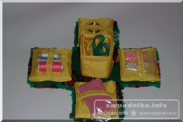 Готовая шкатулка для рукоделия своими руками