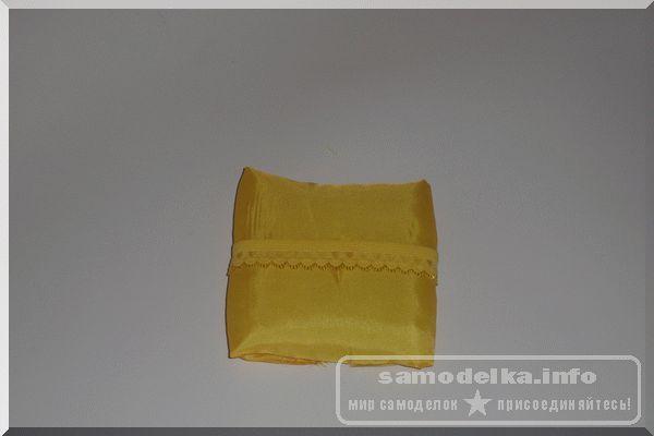 Обклеиваем квадраты тканью для шкатулки для рукоделия