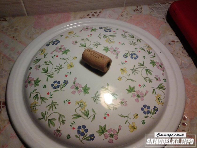 Ручка из пробки для чайника или кастрюли