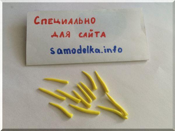полимерная глина желтого цвета