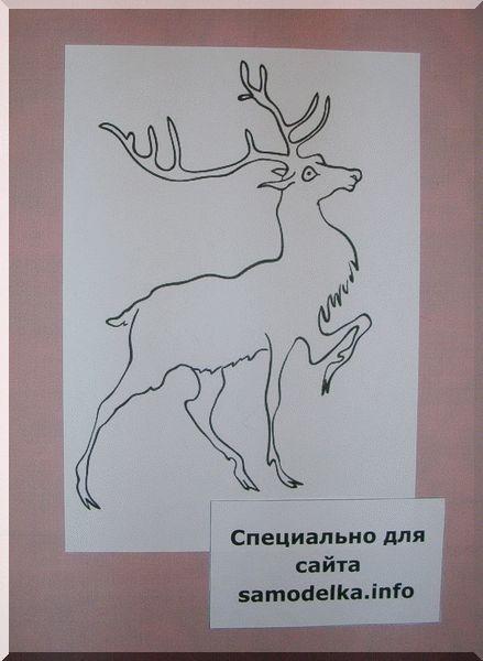 Готовим рисунок для росписи акрилом