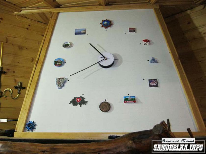 Декоративные часы для дачного камина