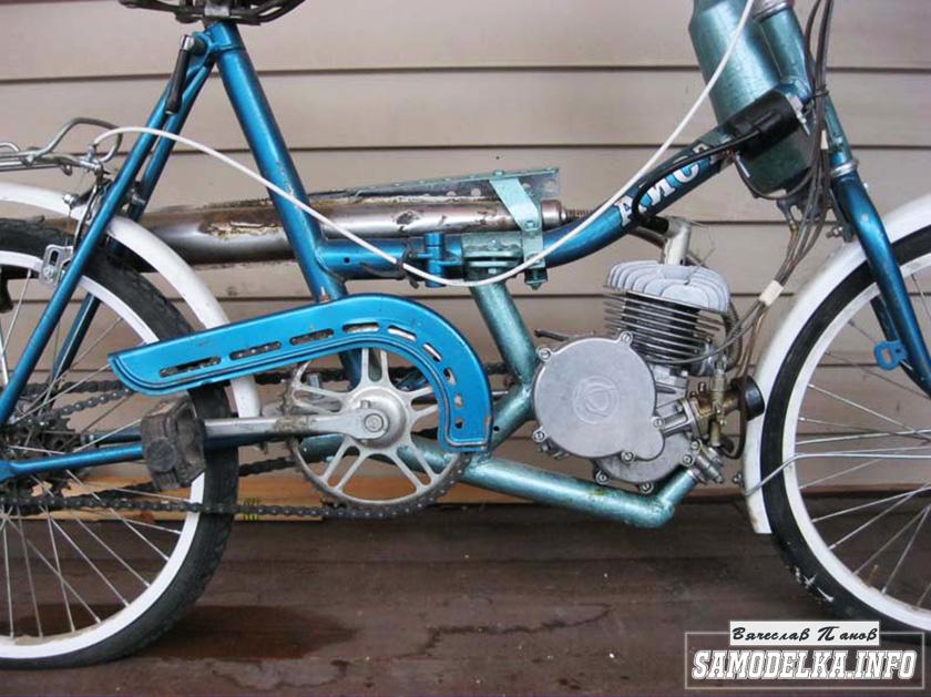 Самодельный мопед из велосипеда своими руками  двигатель