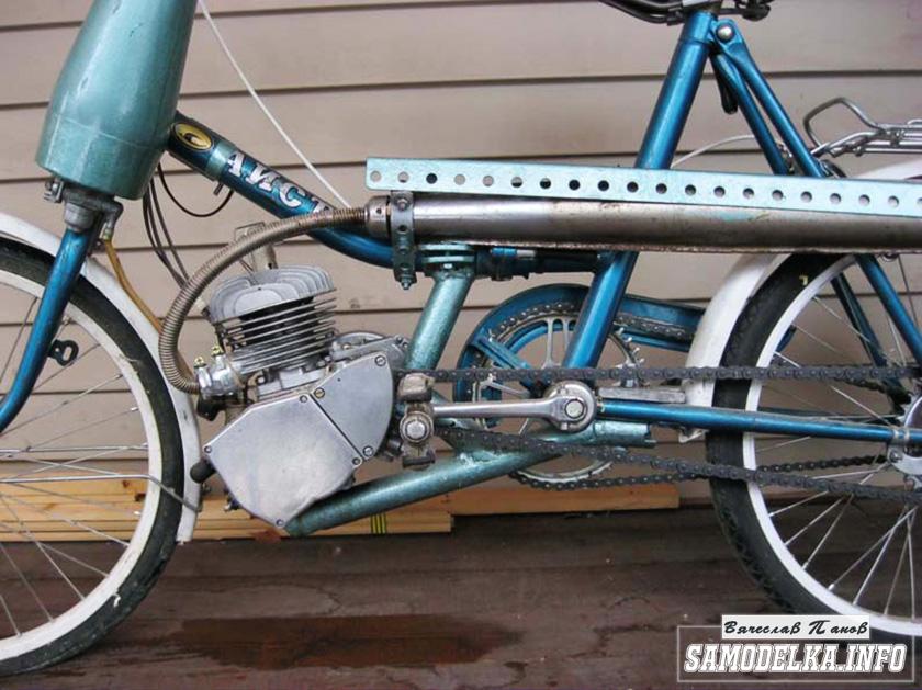 Самодельный мопед из велосипеда своими руками выхлопная труба