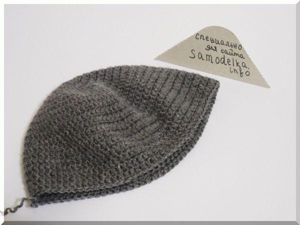 Вяжем шапку до нужной глубины
