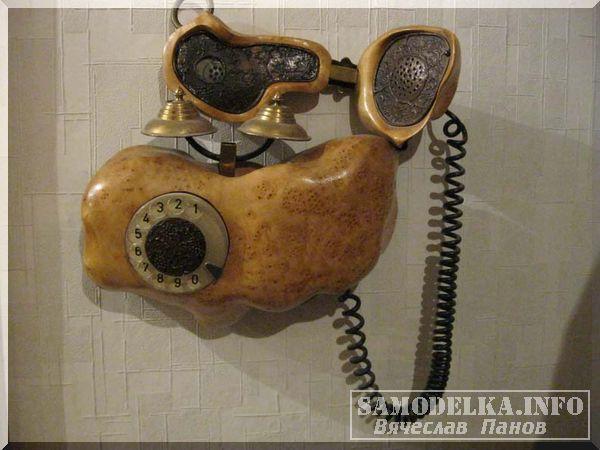 самодельный телефон в корпусе из капа