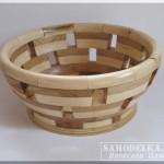 самодельная точеная ваза из деревянных брусочков