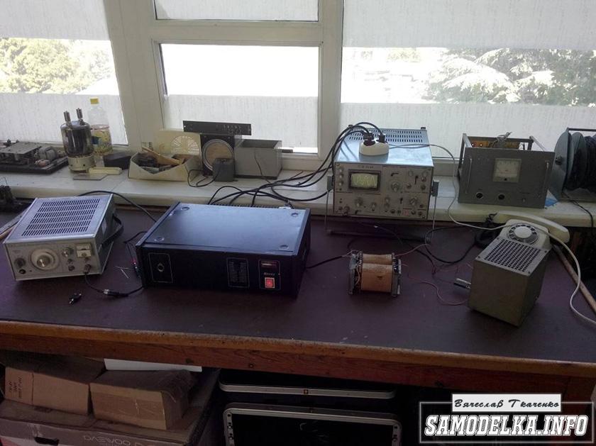 стенд для проверки трансформатора лампового усилителя мощности