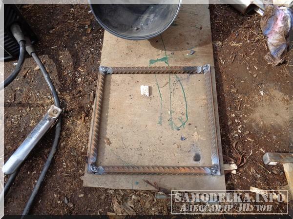 сваренный квадрат из арматуры