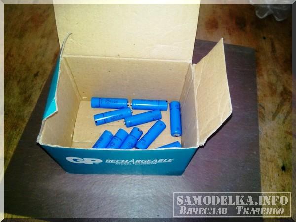 пальчиковые аккумуляторы в коробке