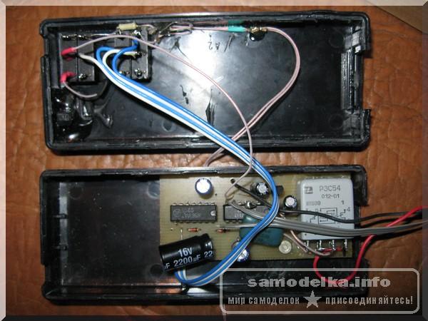 Сигнализация смонтированная внутри корпуса от блока питания ноутбука