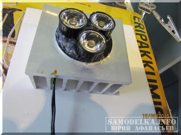 Светодиодная лампа своими руками для авто