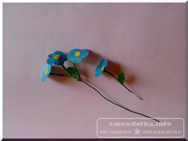 Заготовки цветов для самодельной объемной открытки