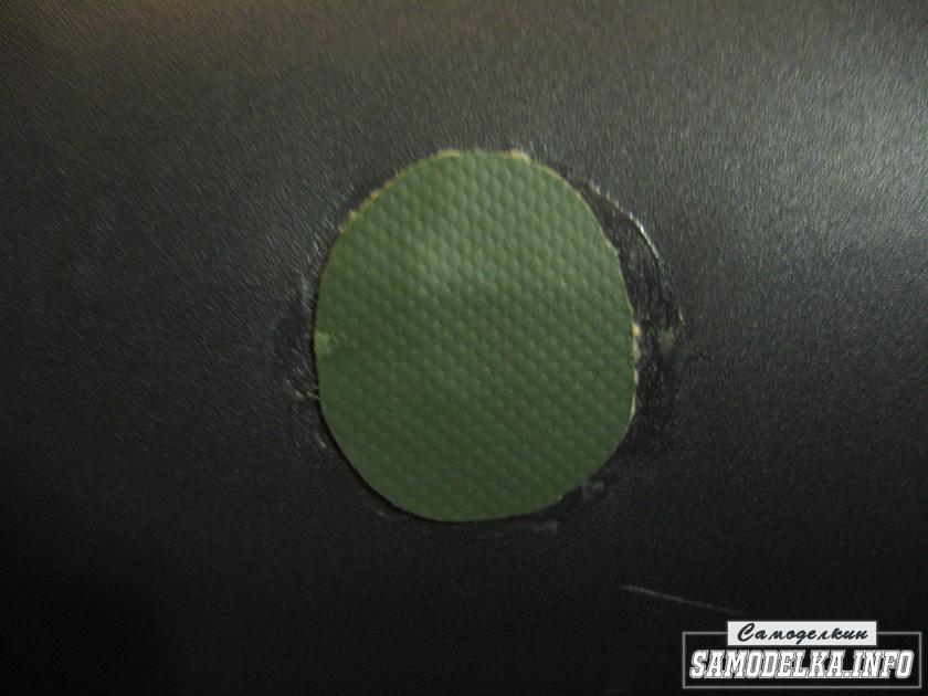 латка наклеенная на место прокола матраса