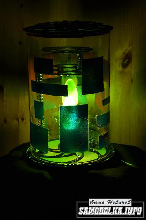 настольная лампа в стиле стимпанк своими руками