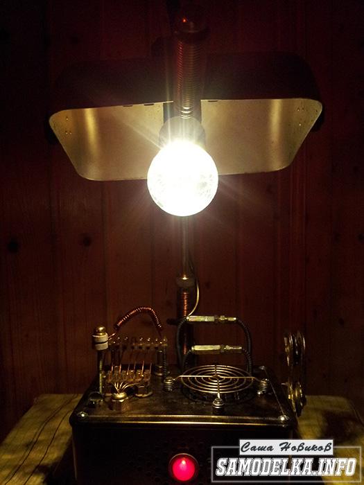 фото лампы в стиле стимпанк своими руками