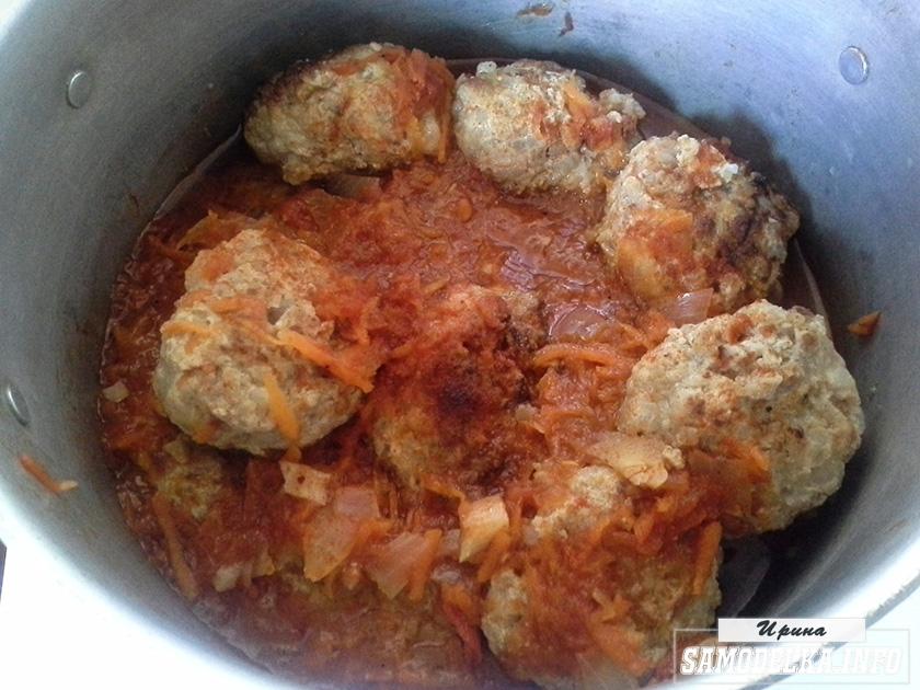 Фото тефтелей в томатном соусе