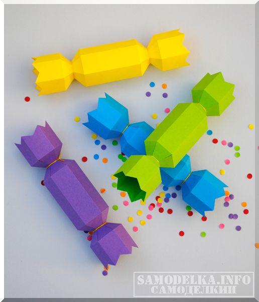 новогодняя упаковка для конфет своими руками