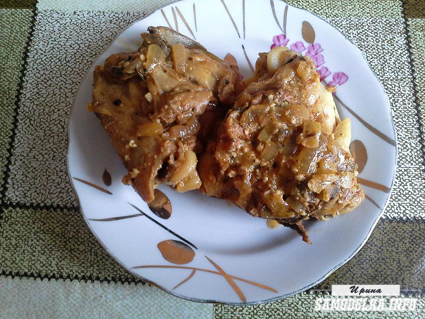 фото куриных бедрышек под сливочно-ореховым соусом