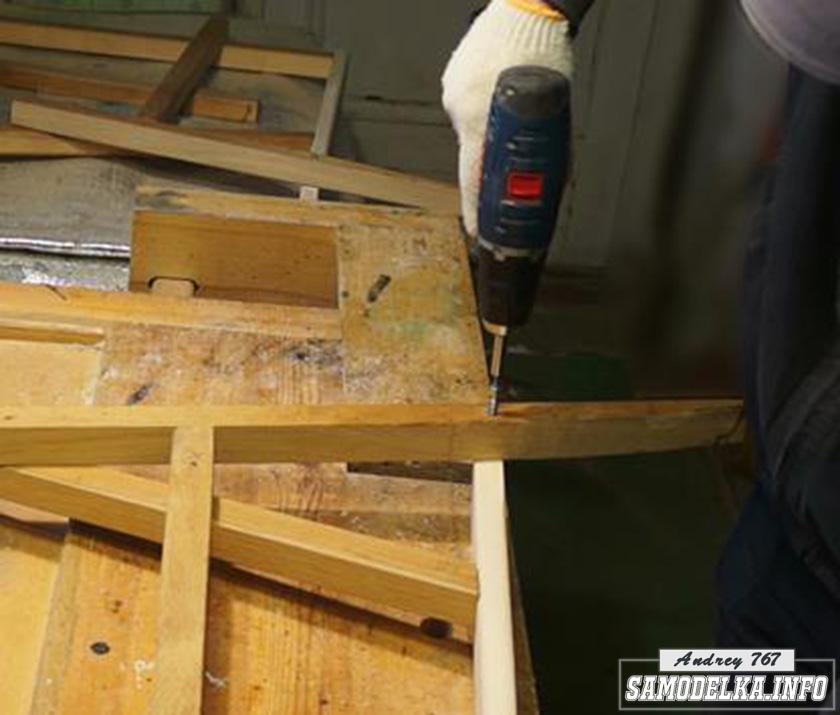 сборка самодельной деревянной мебели