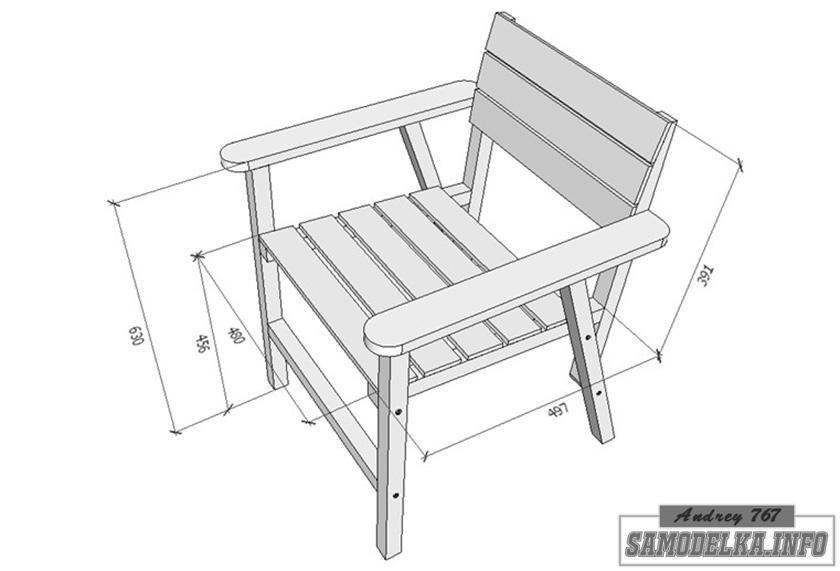 эскиз самодельного стула