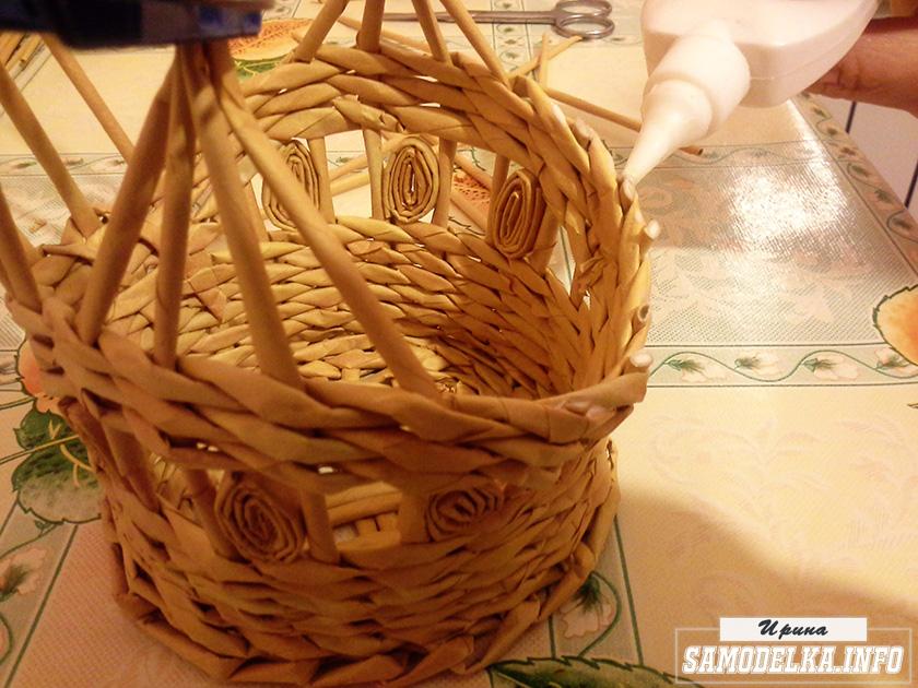 фото плетения из газетных трубочек