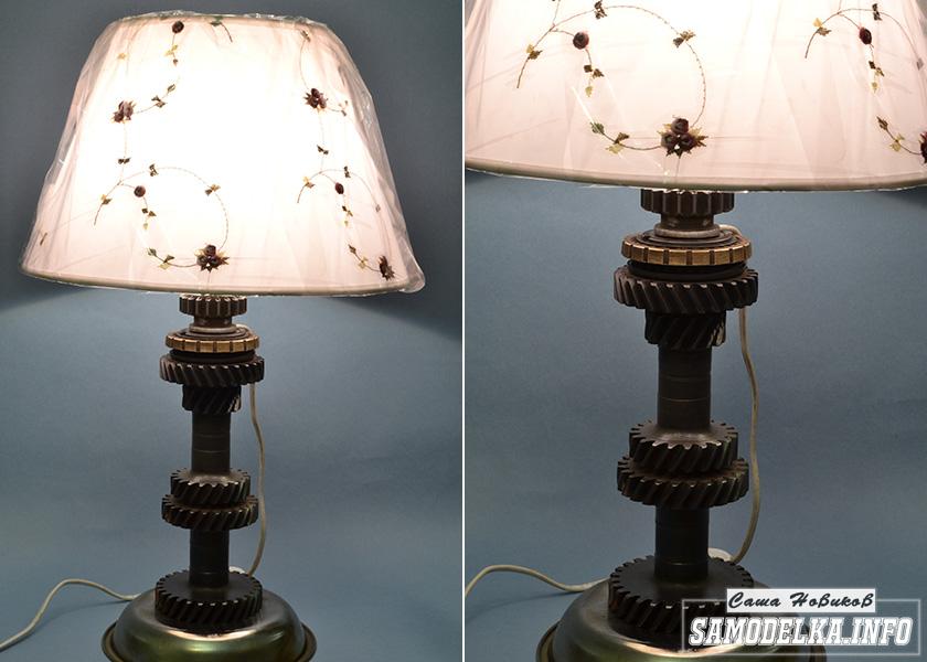 настольный светильник в стиле стимпанк