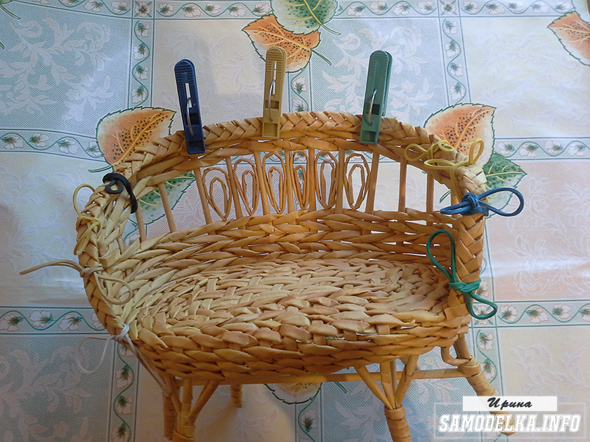 Мебель из газетных трубочек своими руками фото 44