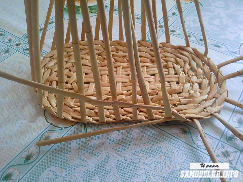 плетение диванчика газетными трубочками