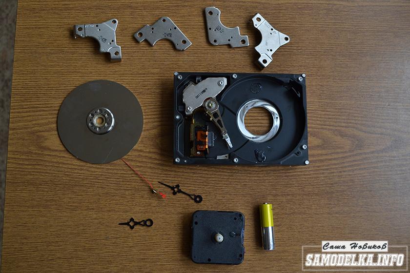 разобраный жесткий диск