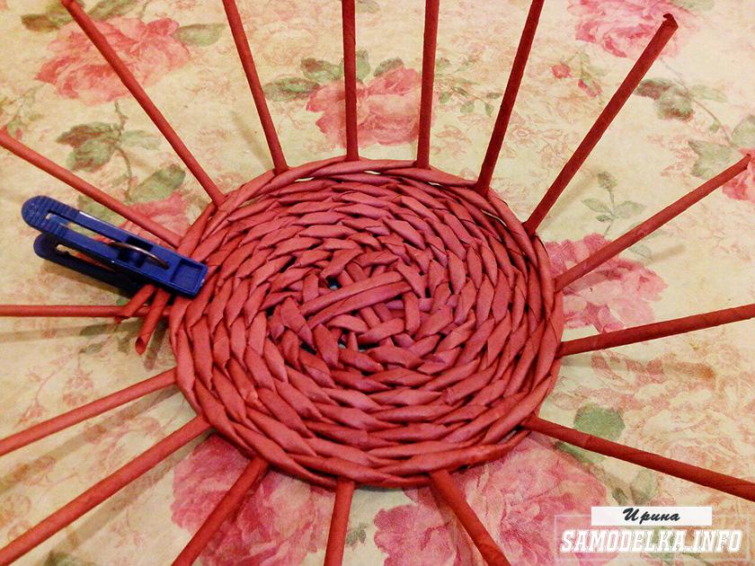 конфетница из газетных трубочек