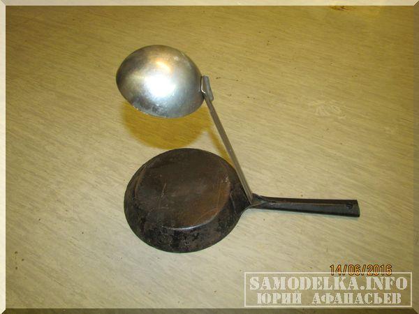 ночник из сковороды и черпака своими руками